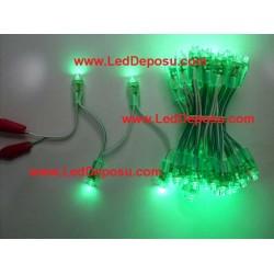 Yeşil Dizgi Led 9mm